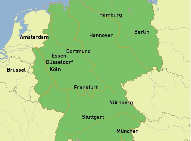 Standorte in Deutschland Messebauer Vermittlung