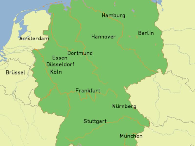 Standorte Messebauhelfer Deutschland